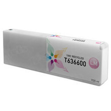 Remanufactured Replacement for Epson T636600 (T6366) Light Magenta Ink Cartridges, 700 ml