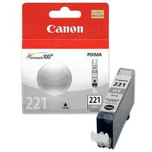 Canon CLI-221GY Photo Gray OEM Ink Cartridge, 2950B001