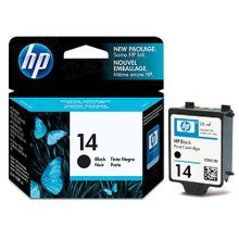 Original HP 14 Black Ink Cartridge in Retail Packaging (C5011DN)