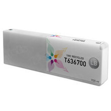 Remanufactured Replacement for Epson T636700 (T6367) Light Black Ink Cartridges, 700 ml