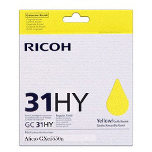 OEM Yellow Ricoh GC31Y HY Ink Cartridge