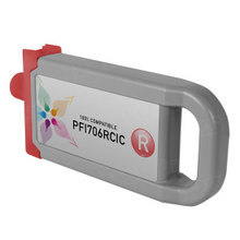 Compatible PFI-706R Canon (6687B001AA) 700ml Red Ink Cartridges