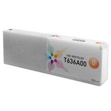Remanufactured Replacement for Epson T636A00 (T636A) Orange Ink Cartridges, 700 ml