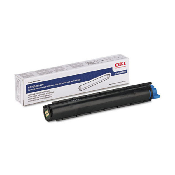 OEM Okidata 43640301 Black Toner Cartridge