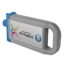 Compatible PFI-706B Canon (6689B001AA) 700ml Blue Ink Cartridges