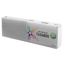 Remanufactured Replacement for Epson T636B00 (T636B) Green Ink Cartridges, 700 ml