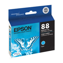 Original Epson 88 Cyan Inkjet Cartridge (T088220), Moderate-Capacity