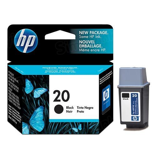 HP 20 Black Original Ink Cartridge C6614DN