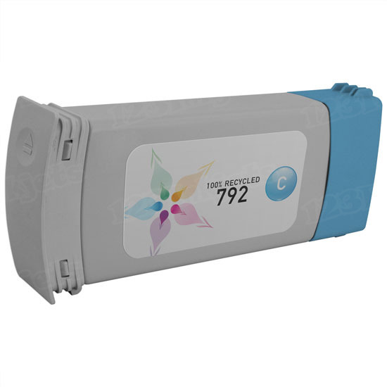 Remanufactured Replacement Cyan Ink for HP 792