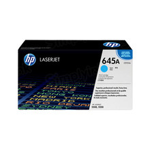 HP 645A (C9731A) Cyan Original Toner Cartridge in Retail Packaging