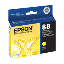 Original Epson 88 Yellow Inkjet Cartridge (T088420), Moderate-Capacity