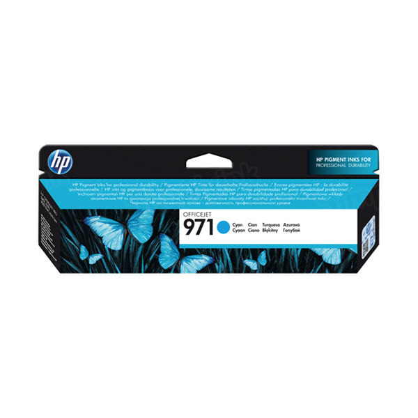 HP 971 Cyan Original Ink Cartridge CN622AM