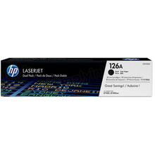 HP 126A (CE310AD) Black Original Toner Cartridge in Retail Packaging - Dual Pack