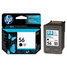 Original HP 56 Black Ink Cartridge in Retail Packaging (C6656AN)