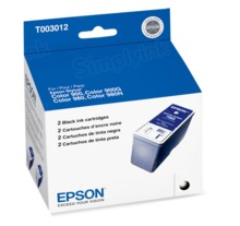 Original Epson T003 Series OEM Ink Cartridge Black Twin Pack,T003012
