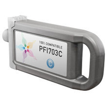 Compatible Canon PFI-703C Dye Cyan Ink Cartridges