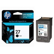 Original HP 27 Black Ink Cartridge in Retail Packaging (C8727AN)