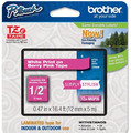Brother TZe-MQP35 1/2 White on Berry OEM Tape