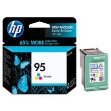 Original HP 95 Tri-Color Ink Cartridge in Retail Packaging (C8766WN)