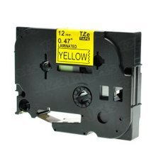 Brother TZeFX631 Black on Yellow OEM 1/2 Label Tape