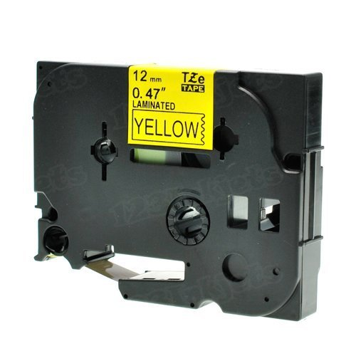 Brother TZe-FX631 1/2 Black on Yellow OEM Tape