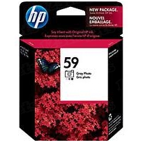 Original HP 59 Photo Gray Ink Cartridge in Retail Packaging (C9359AN)