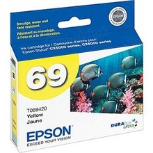 Original Epson 69 Yellow Inkjet Cartridge (T069420), Standard-Capacity