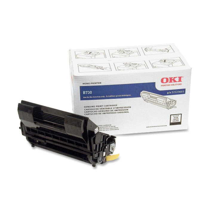 OEM Okidata 52123603 Black Toner Cartridge
