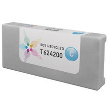 Remanufactured Replacement for Epson T624200 (T6242) 950ml Cyan Ink Cartridges