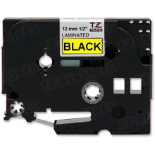 Brother TZe631 Black on Yellow OEM 1/2 Label Tape