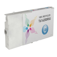 Remanufactured Replacement for Epson T616200 (T6162) Cyan Ink Cartridges
