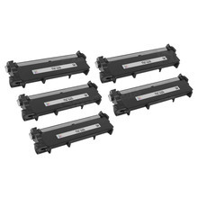 Compatible Brother TN660 5 Pack Laser Toner Cartridges, High Yield Black