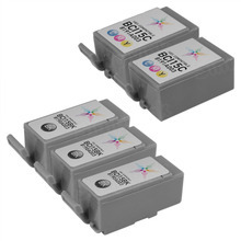 Inkjet Supplies for Canon Printers - Compatible Bulk Set of 5 Ink Cartridges 3 Black Canon BCI-15BK (8190A003) and 2 Color Canon BCI-15C (8191A003)