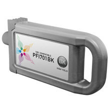 Compatible Canon PFI-701Bk High Yield Pigment Black Ink Cartridges