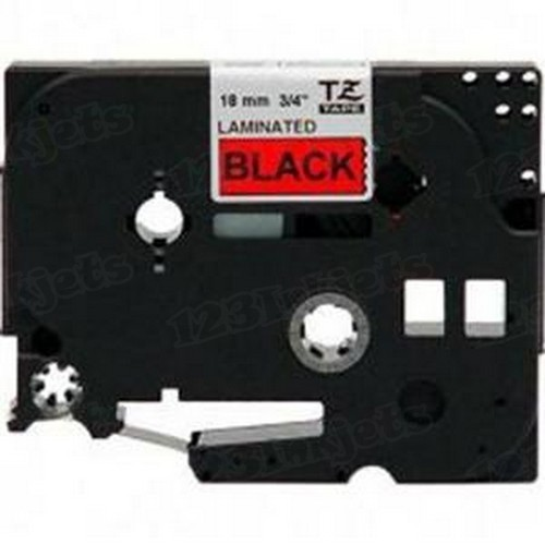 Brother TZe-441 3/4 Black on Red OEM Tape
