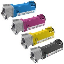 Compatible Set of 4 High-Yield Replacement Toners for use in the Dell 1320c, (Black, Cyan, Magenta, Yellow)