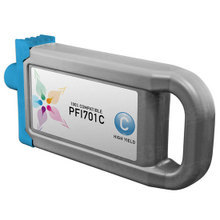 Compatible Canon PFI-701C High Yield Pigment Cyan Ink Cartridges