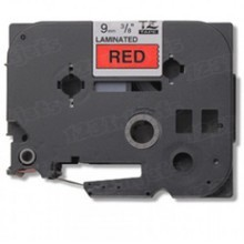 Brother TZe421 Black on Red OEM 3/8 Label Tape