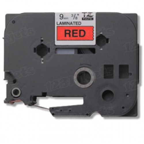 Brother TZe-421 3/8 Black on Red OEM Tape