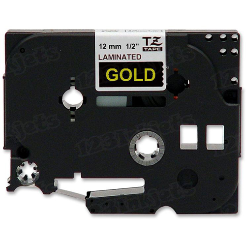 Brother TZe-334 1/2 Gold on Black OEM Tape