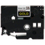 Brother TZe334 Gold on Black OEM 1/2 Label Tape