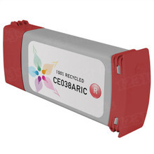 Remanufactured Replacement Ink Cartridge for Hewlett Packard CE038A (HP 771) Red