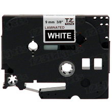 Brother TZe325 White on Black OEM 3/8 Label Tape