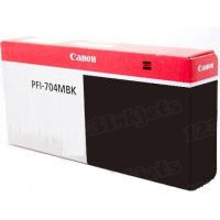 Canon PFI-704MBK Matte Black OEM Ink Cartridge, 3860B001AA