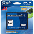 Brother TZe-315 1/4 White on Black OEM Tape