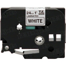 Brother TZe251 Black on White OEM 1 Label Tape