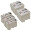 Inkjet Supplies for Epson Printers - Compatible Bulk Set of 5 Ink Cartridges 3 Black Epson S020187 (S187093) and 2 Color Epson S020193 (S193110)