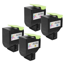 Lexmark Remanufactured High Yield (Black, Cyan, Magenta, Yellow) Toner Cartridge Set of 4, C540