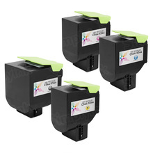 Lexmark Remanufactured Extra High Yield (Black, Cyan, Magenta, Yellow) Toner Cartridge Set of 4, C544
