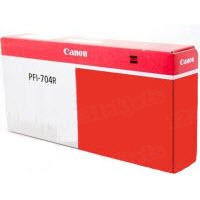Canon PFI-704R Red OEM Ink Cartridge, 3867B001AA